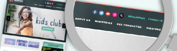 """Blog header image for Put Your Church Website to the """"Seeker Test"""""""